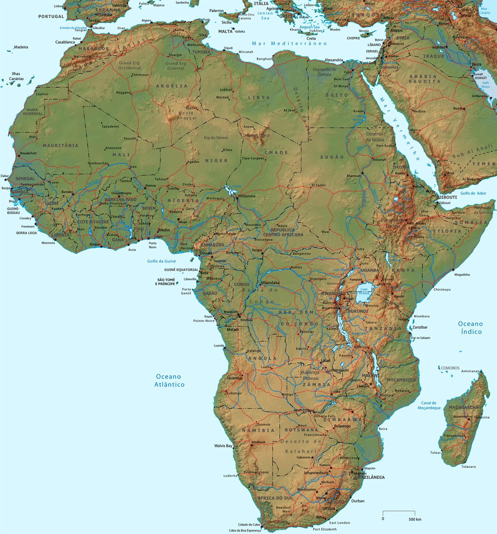 Países Africanos: África do Sul, Namíbia, Comoros, Egito, Angola ...