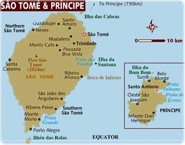 Mapa De Sao Tome E Principe Ilha Africa