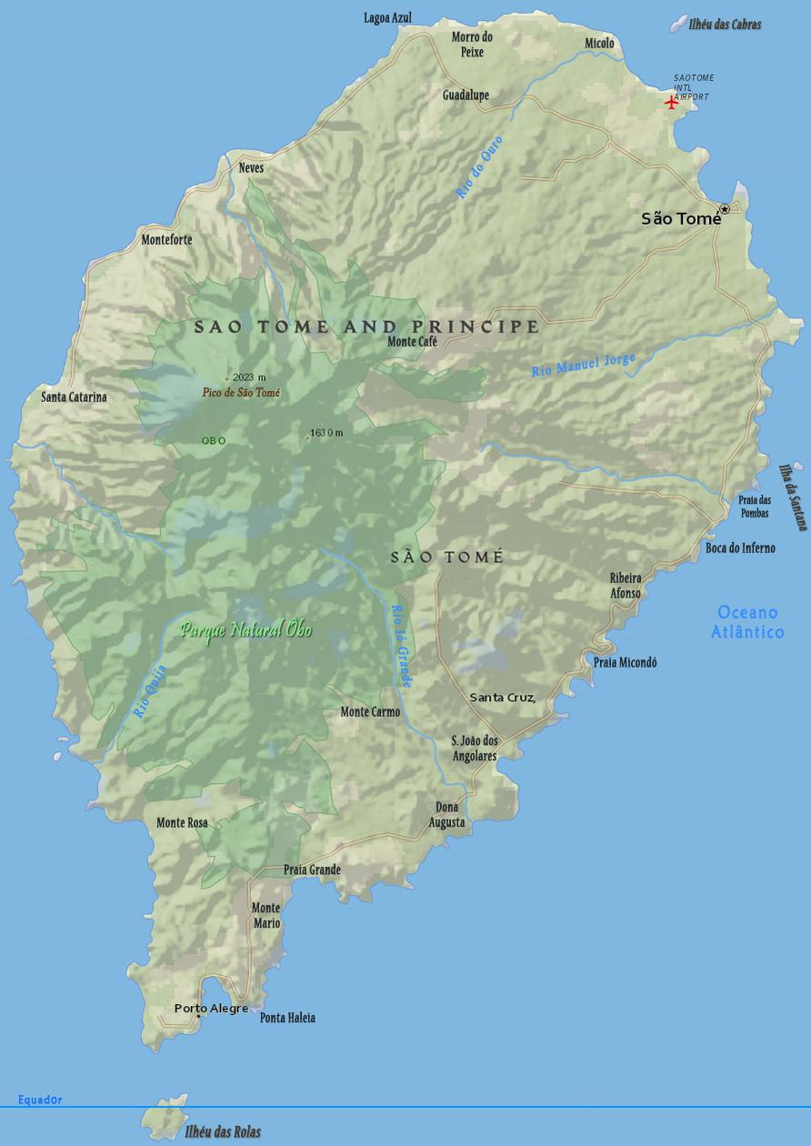 Ilha De Sao Tome Africa