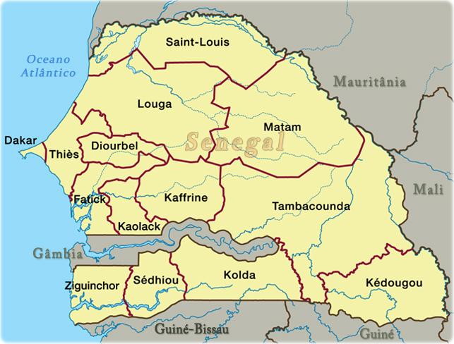Mapa Geografico De Senegal